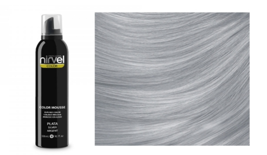 NIRVEL Color mousse – pena SILVER